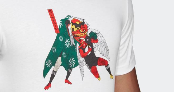 胸元には獅子舞と天狗さま!ラグビーワールドカップ日本大会を記念したTシャツがアディダスから登場