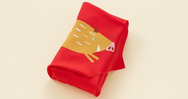 風呂敷カワイイ♡和菓子のとらやから2019年の干支「亥(いのしし)」テーマの商品が続々登場