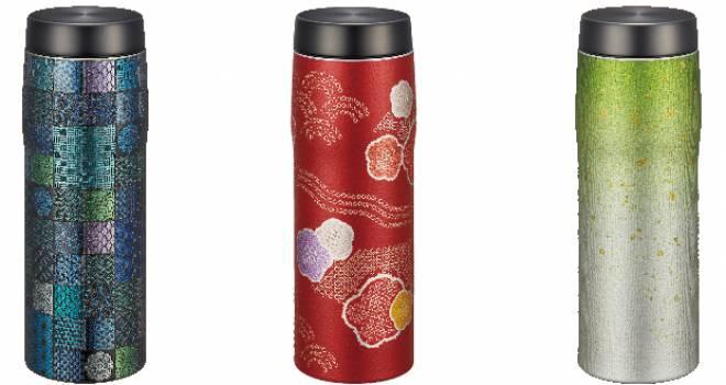 手触りや素材感にこだわり。日本の伝統美を色鮮やかに表現したステンレスボトルが登場