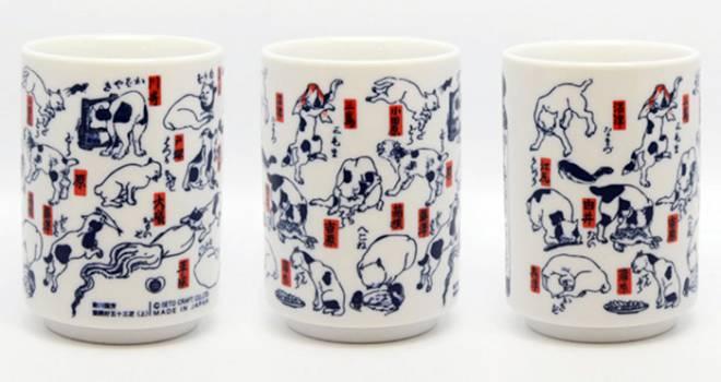 やだこれ可愛い!歌川国芳が描いた猫づくし「江戸猫 湯のみ」が可愛すぎるよ!