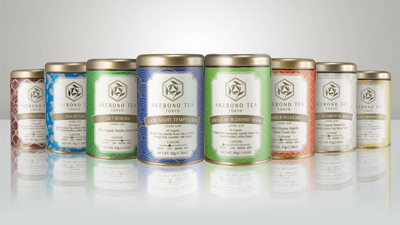 日本茶にハーブをブレンドして独自にアレンジした新スタイルの日本茶ブランド「AKEBONO TEA」