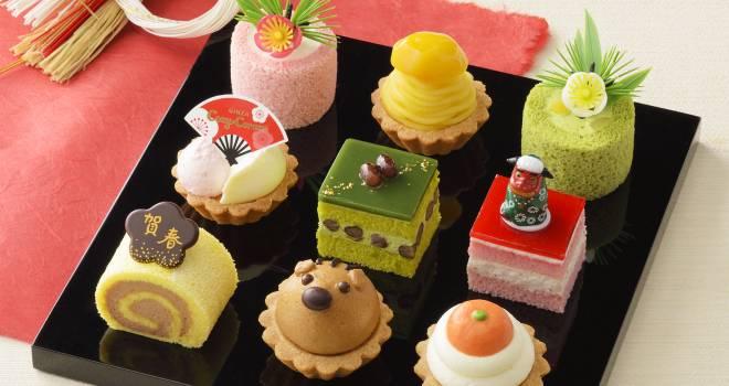 うりぼう、獅子舞、鏡餅…新春の雰囲気たんまりの銀座コージーコーナー「ケーキのおせち」