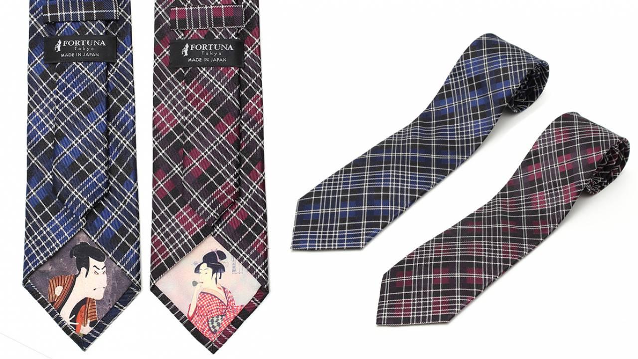 これぞ裏勝り!喜多川歌麿と写楽の名作を大胆にあしらった西陣織のネクタイが登場!