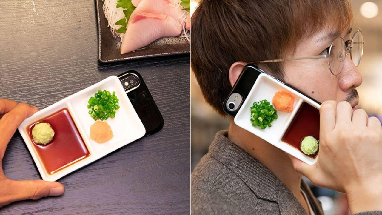 再現度高すぎだろ(笑)薬味皿を食品サンプルで再現したスマホケースが発売!