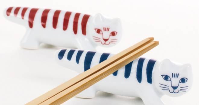 リサラーソンの可愛い猫ちゃん「マイキー」が波佐見焼のステキな箸置きになった♪