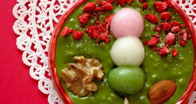 花見団子をドン!バレンタインチョコにプニプニだんごをトッピング「ハイカラ姫しょこら」