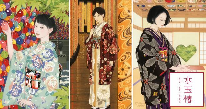 女流画家が描く世界をそのまま着物に!期待の着物ブランド「水玉椿」登場