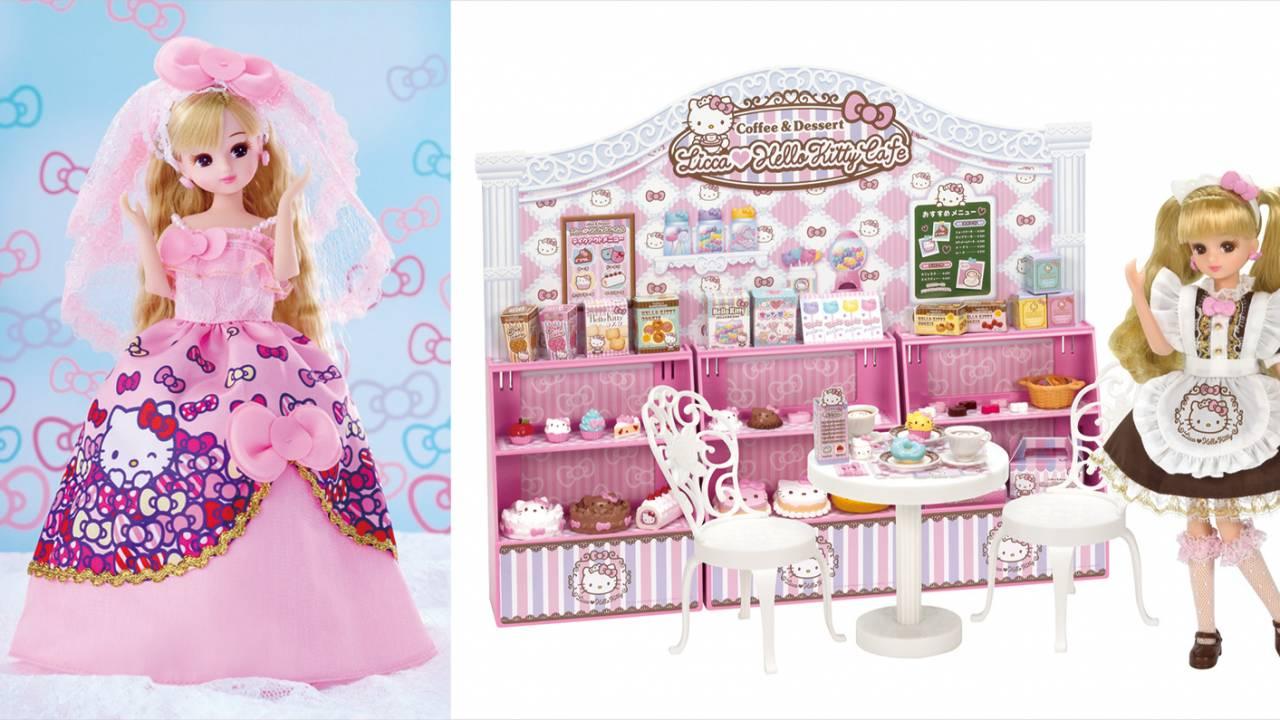 ウェディングドレスのリカちゃんも!リカちゃんとキティちゃんの夢コラボ商品3種が発売!