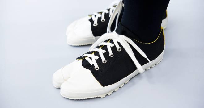 定番スニーカーの雰囲気たっぷりの足袋シューズ「みらい足袋」が可愛いゾ!