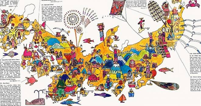 イラストで表現した日本が可愛い!1970年 大阪万博の案内マップが復刻販売