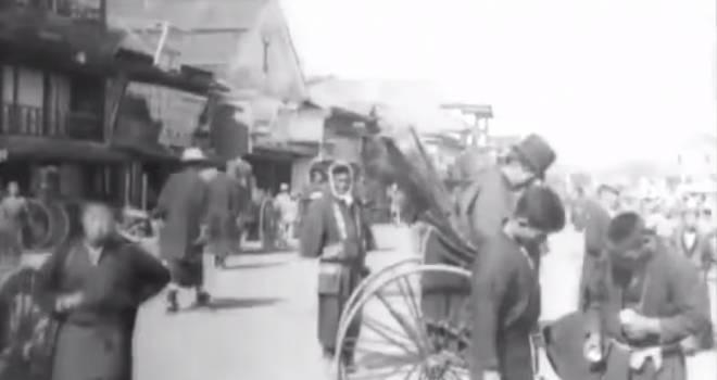 ラフすぎる着物姿に驚き!明治30年のリアルな東京の姿を捉えた映像が興味深い!