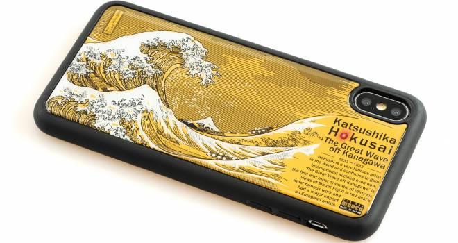 電波でLEDが光る!葛飾北斎の神奈川沖浪裏を基板にデザインしたスマホケースがカッコいいゾ!