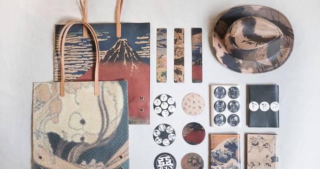 北斎漫画キャラも登場!葛飾北斎と日本製皮革の融合を形にした「創悦」がイイ感じ♡