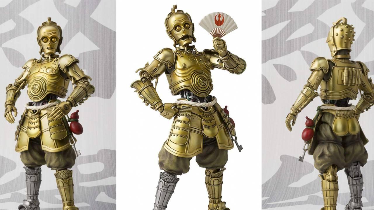 ちょんまげもお似合い♪スター・ウォーズ「C-3PO」が甲冑姿のフィギュアになった!