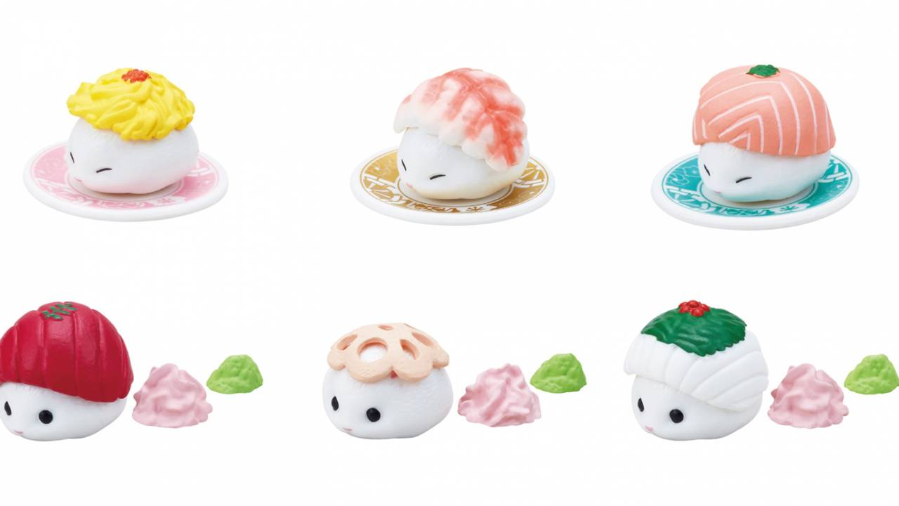 キュートなハムちゃんたちが手まり寿司に!ミニフィギュア「手まりはむ寿司」萌え誕!