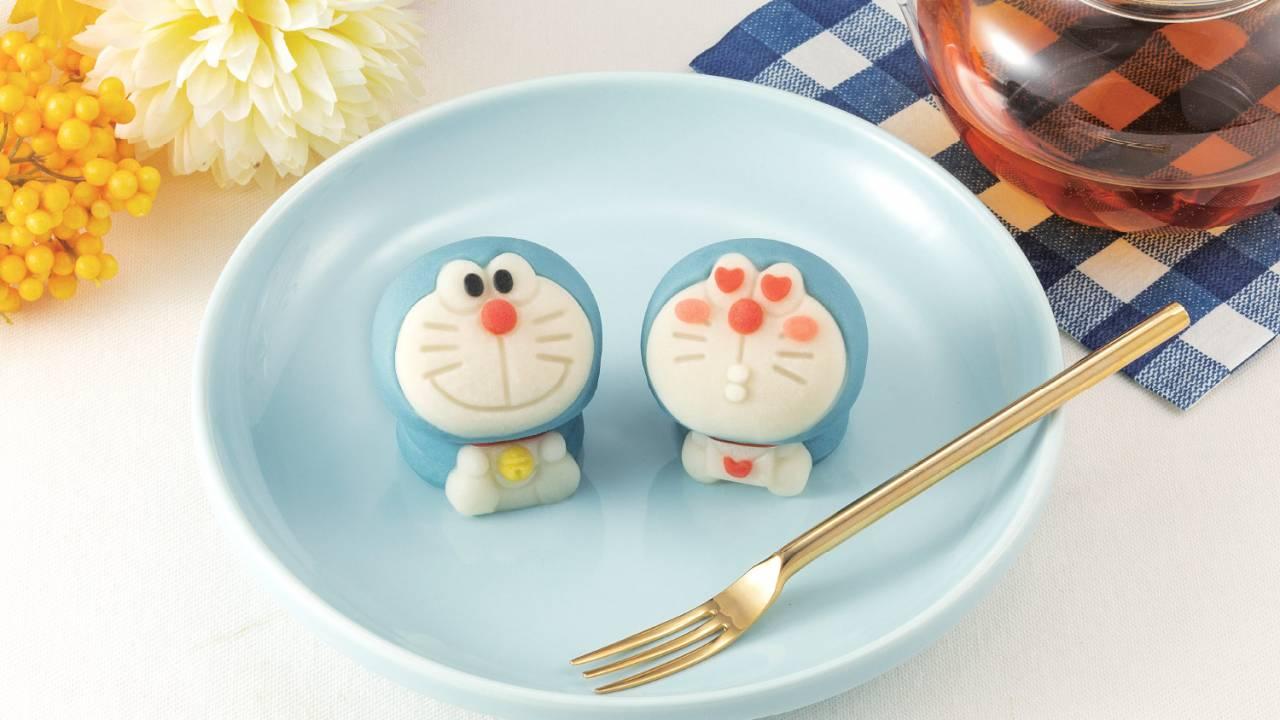 鈴やお鼻もぜ〜んぶ練り切り!ドラえもんがキュートな和菓子になっちゃいました!