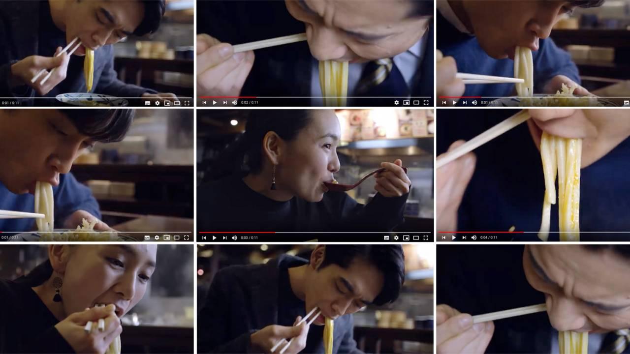 """フェチ極まりない(笑)丸亀製麺が""""うどんをすする""""シーンだけのシズル感溢れる動画を一挙に20本公開"""