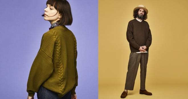 シルエットは着物をオマージュ、春の田んぼをイメージしたYASHIKIのニットウェアがステキです!