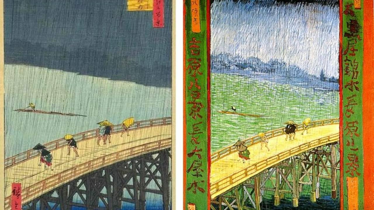 歌川広重の「名所江戸百景」とそれを模写したゴッホの作品を並べてみたら違いが面白い!