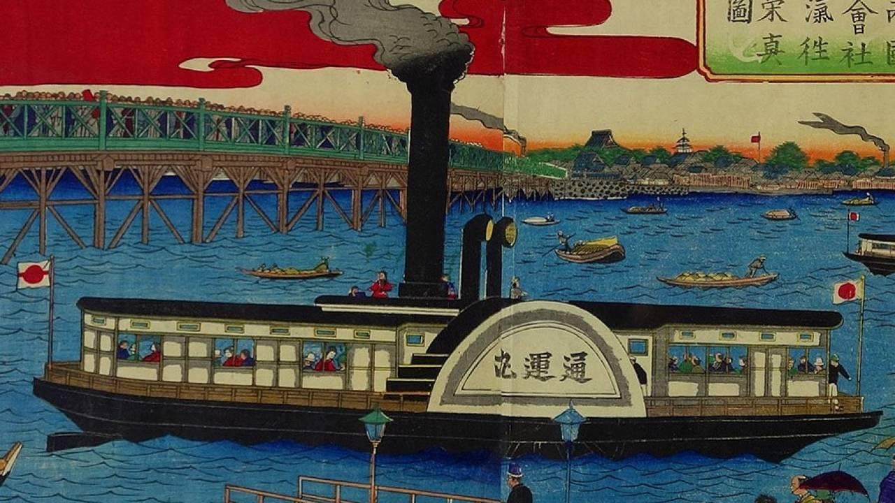 明治時代の水上バス?軍艦として活躍した蒸気船も明治に入り「一銭蒸気」として庶民の足に