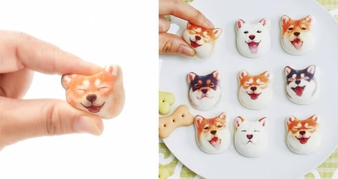 食べられないよ♡満面の笑みを浮かべたキュートな柴犬の和風マシュマロ「柴犬ほうずい」