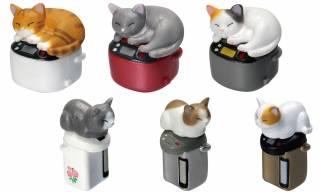 猫あるある(笑)温かい場所が大好き猫ちゃんと家電がセットになったミニフィギュア「吾輩の定位置 ぬくぬく」