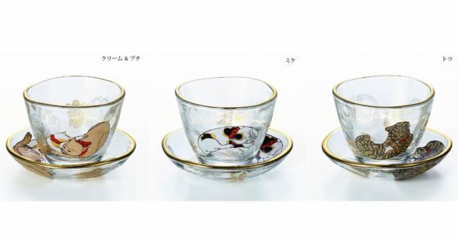 歌川国芳のカワイイ猫をあしらった「江戸猫ぐらす 盃&豆皿セット」が素敵!