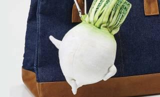 京野菜がまんまるキュートなポーチに!もちもち触感「聖護院大根ポーチ」