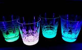 伝統模様のシルエットが美しい!暗闇で幻想的に光る「月光グラス」に新商品が登場