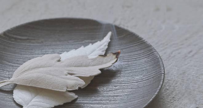 ステキです!和紙でできた葉っぱがモチーフの美しいお香「HA KO」