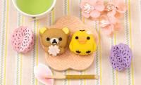 キュートで再現度バツグン!桜を抱えたリラックマがカワイイ和菓子になっちゃいました♡