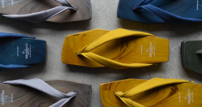 静岡産ひのきを使い現代的なスタイリッシュデザインの下駄「然-shika-」がステキです!