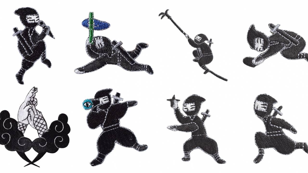ニンニン!自慢の忍術を披露する忍者がキュートなワッペンになりました!