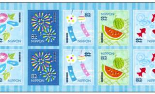夏の風物詩が満載♪スイカ、金魚、風鈴などデザインが可愛い「夏のグリーティング切手」