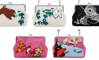 日本画のモフモフなワン子や化け猫、擬人化された金魚の「がま口クラッチバッグ」がたまんない可愛さ♡