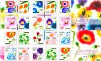 鮮やかな彩りがステキ!日本の日常生活の中で見かける花々が美しい切手になりました!
