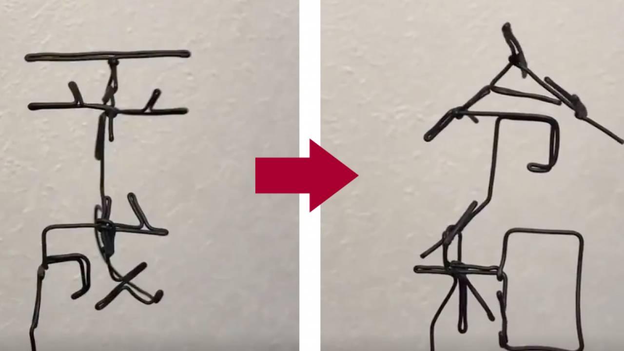 平成を回転させると令和に!新元号発表後に超速で公開された針金アートがスゴい!