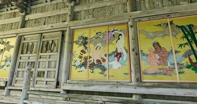 義経、弁慶、酒呑童子…お寺の本堂に描かれたセクシーすぎる巨大な「イケメン官能絵巻」が公開!