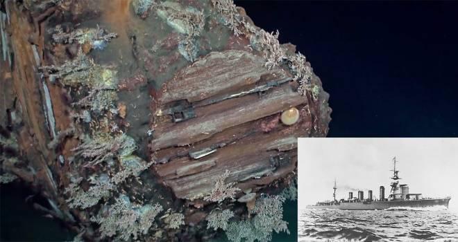 【映像】昭和18年に撃沈された旧日本軍の軽巡洋艦「神通」が海底で発見される!