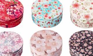 スチームクリームのバラエティ豊かな桜モチーフのデザイン缶がステキです♪
