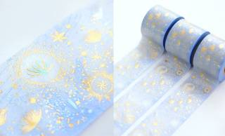 和紙に金銀の箔押しを施した幻想的なマスキングテープ「風の種子」が素敵!