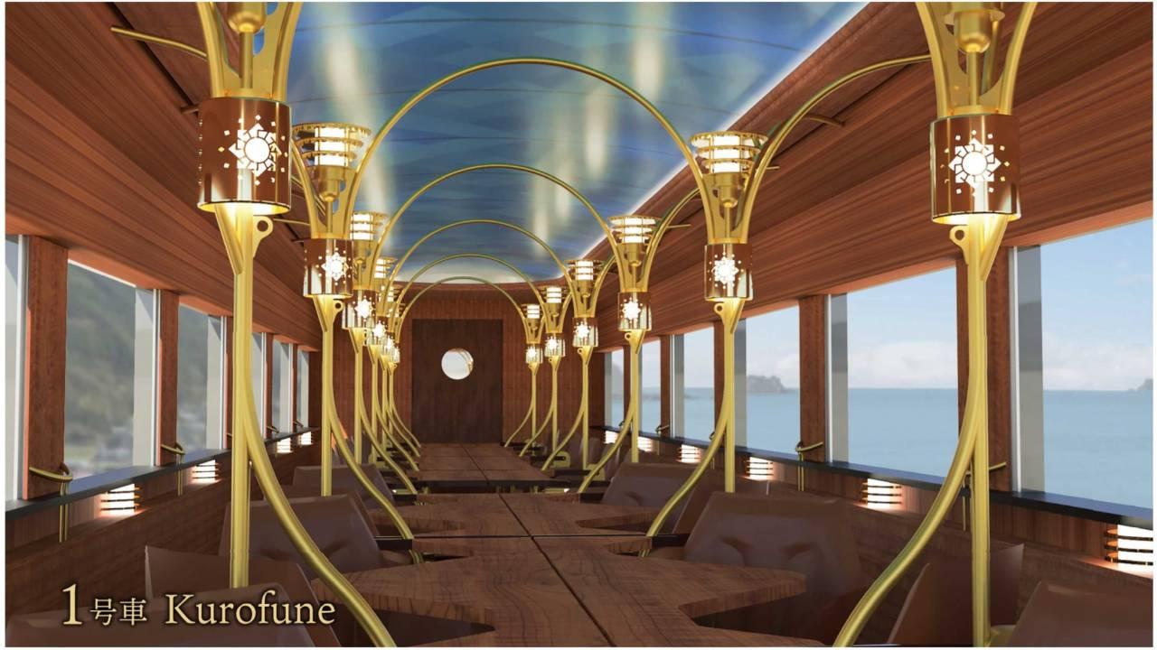 時代の夜明けぜよ!JR四国が運行開始する観光列車「志国土佐」の車内デザイン発表!