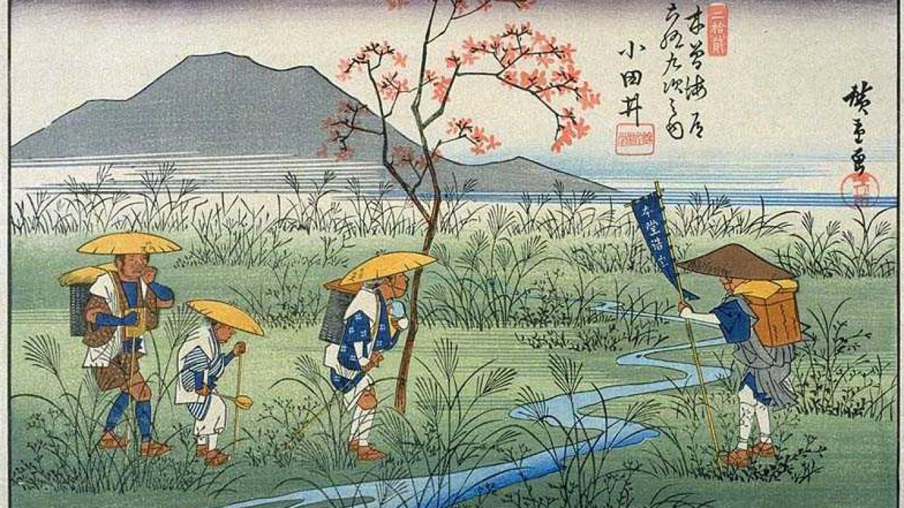 """次代のパイオニアになれる可能性?東京五輪の暑さ対策に発表された""""かぶる日傘""""が「完全に笠じゃん!」と話題に"""