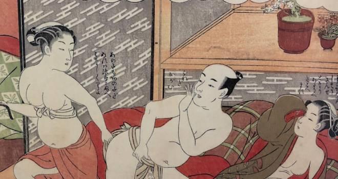 嫁の妊娠中に姪に夜這い!?浮世絵師・鈴木晴信の描いた春画「風流艶色真似ゑもん」の世界がけしからんw