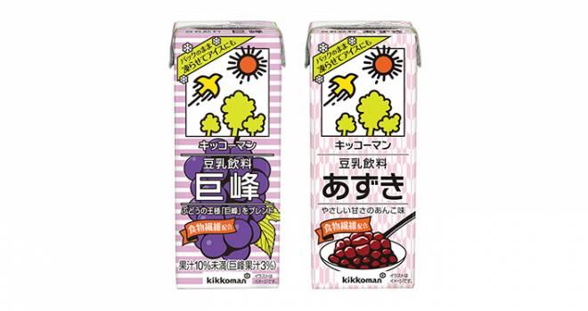 超アリだと思う!おなじみ豆乳飲料から凍らせても美味しい「あずき」「巨峰」新発売
