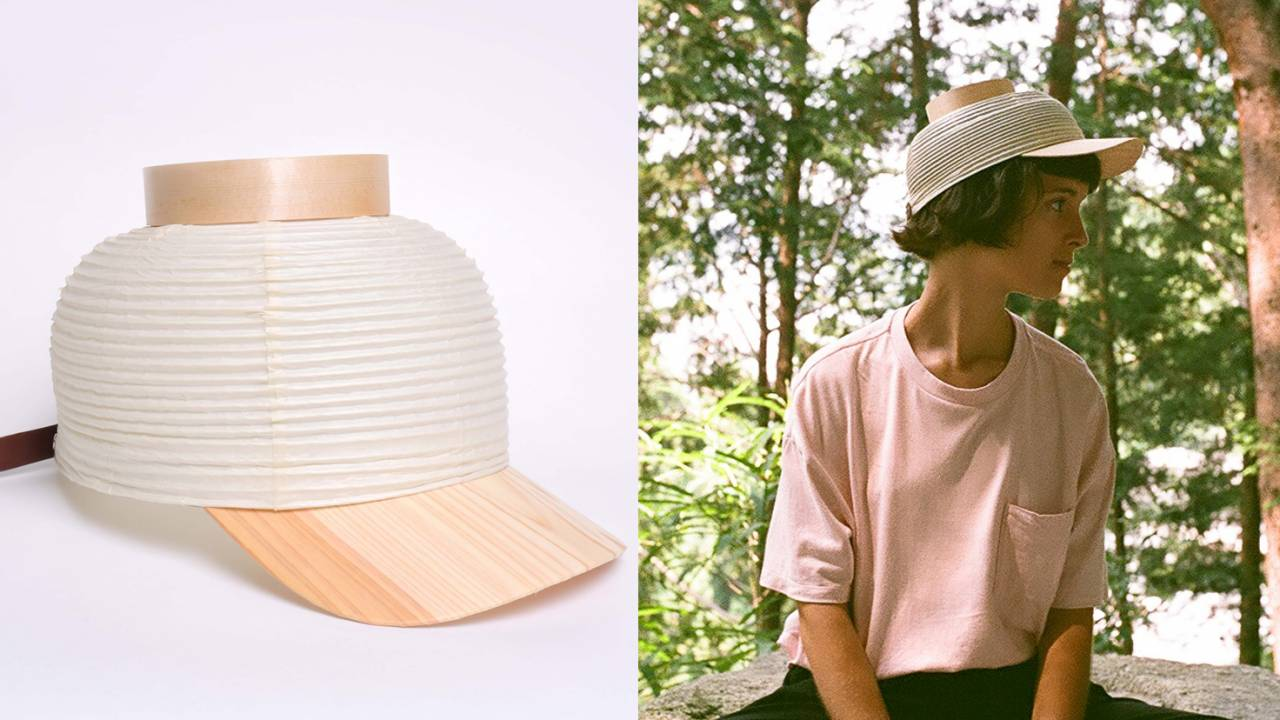 浴衣に合わせたい!京提灯の伸び縮みを活かした斬新すぎる帽子「CHOCHIN CAP」が可愛いよ!