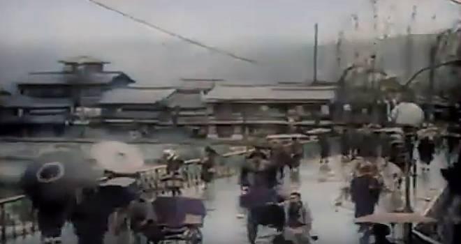 これは超貴重!明治27年に日本の街並みを撮影したフィルムがカラー映像化されました!