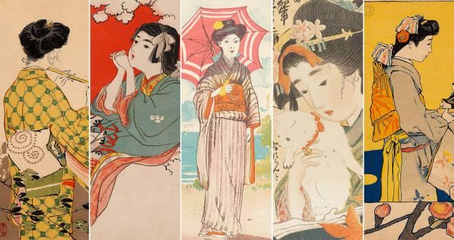 明治時代の女学生向け雑誌「女学世界」の挿絵にトキメキが止まらない♡