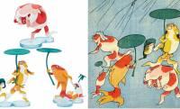 最高じゃないか!浮世絵師・歌川国芳の快作「金魚づくし」をモチーフにしたミニフィギュアが新発売だぞ!