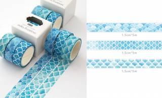 DIYで使いたいっ♪爽やかで涼し気な伝統文様のマスキングテープ「Ocean Washi Tape」